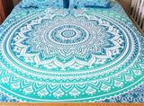 MANDALA BED COVER (DEEP BLUE)