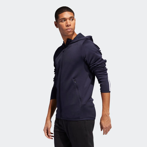 Men's Adidas FreeLift Daily 3 Stripes Hoodie - men's apparel - Sports 4