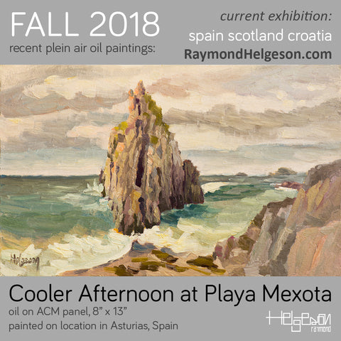 playa mexota plein air painting by Raymond Helgeson .com