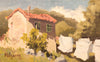 plein air oil painting by Raymond Helgeson, Cantabria, Spain