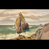 plein air oil painting by Raymond Helgeson, Asturias, Spain