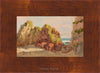 plein air oil painting by Raymond Helgeson, Asturias, Spain, honey frame