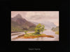 plein air oil painting by Raymond Helgeson, Glencoe, Scotland, black frame