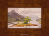 plein air oil painting by Raymond Helgeson, Glencoe, Scotland, honey frame