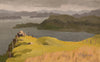 plein air oil painting by Raymond Helgeson, Isle of Skye, Scotland