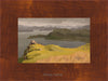 plein air oil painting by Raymond Helgeson, Isle of Skye, Scotland, honey frame