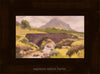 plein air oil painting by Raymond Helgeson, Isle of Skye, Scotland, espresso walnut frame