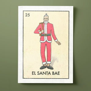 El Santa Bae Christmas Card
