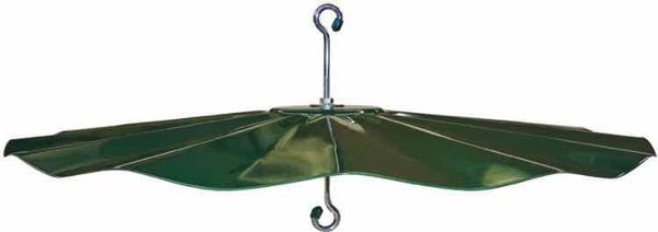 Squirrel Baffle Green Hanging Disk