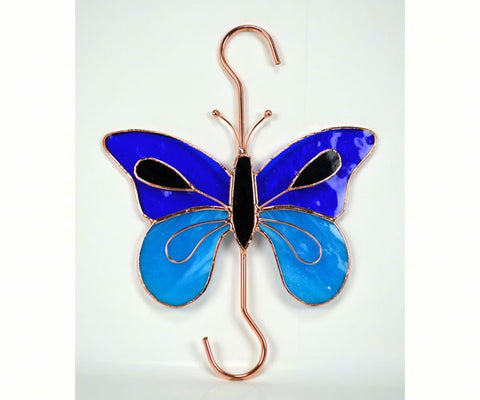 Stained Glass Garden Hook - Butterfly