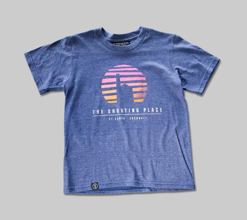 Kids Sunset Tee Steel Blue (XS)
