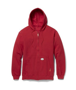 Red Front Zipper FR Hoodie
