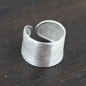 Sterling Silver Classic Adjustable Ring