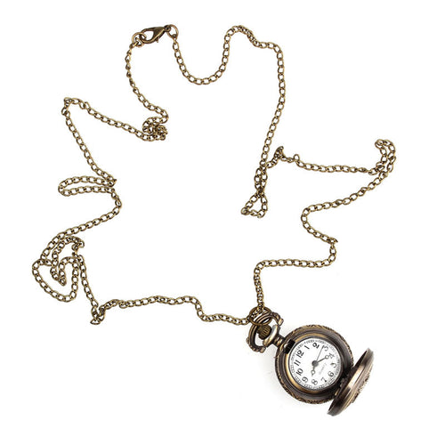 Vintage Style Pocket Chain Necklace Watch
