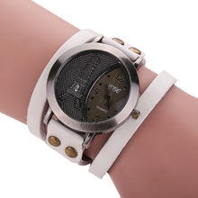 Unisex Vintage Cow Leather Wristwatch
