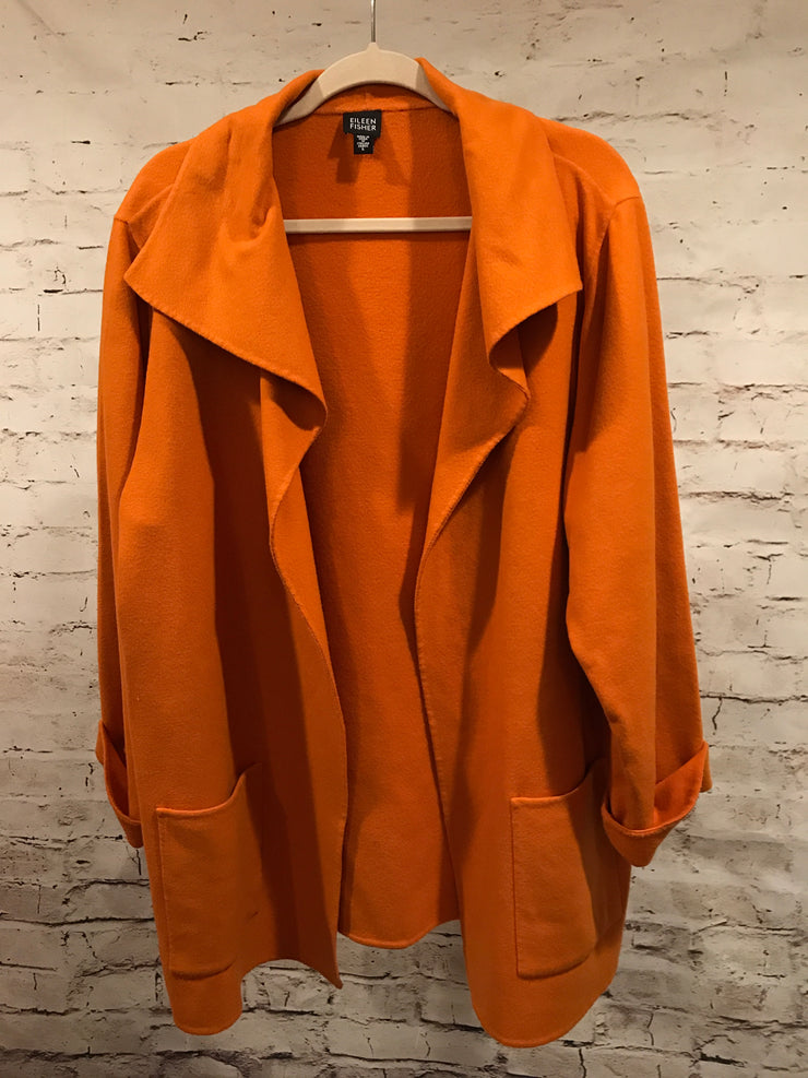 ORANGE WOOL/CASHMERE JKT. $468