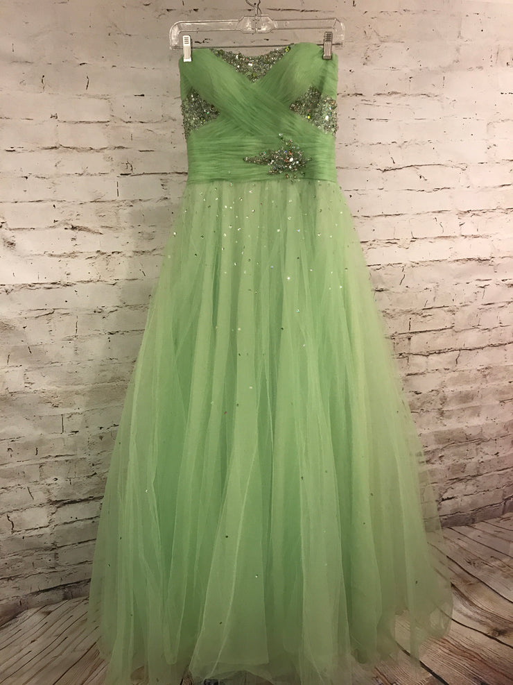 GREEN PRINCESS GOWN