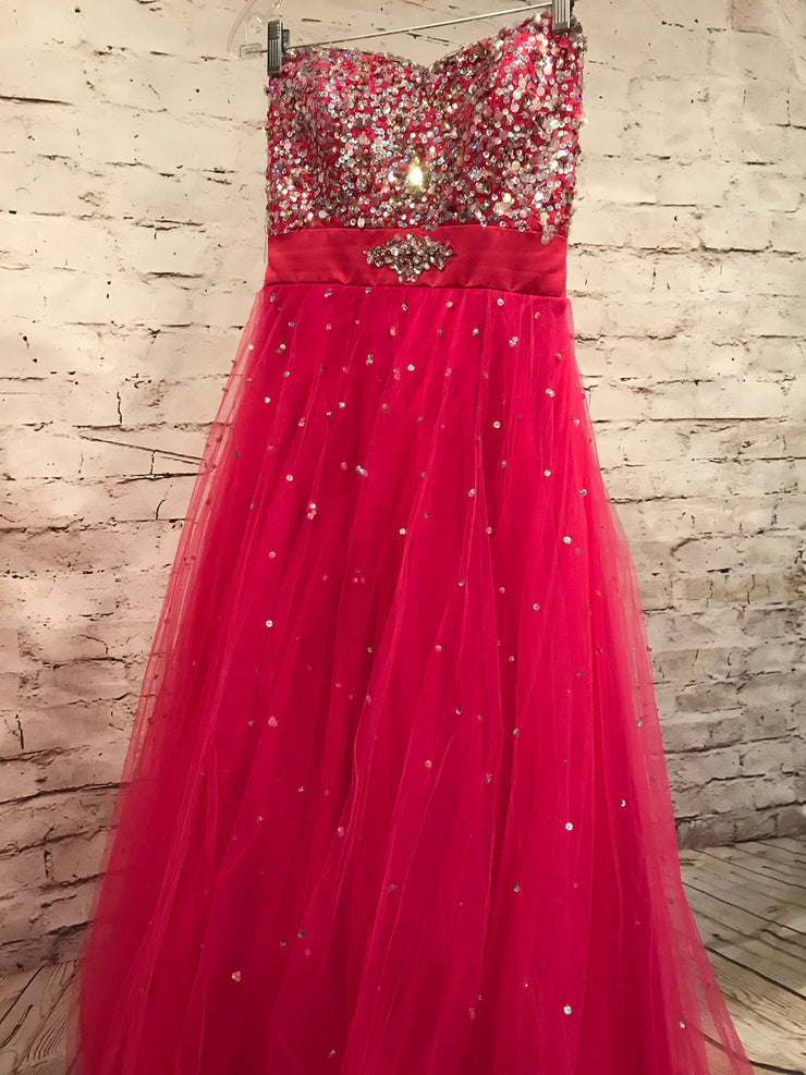 PINK A LINE GOWN