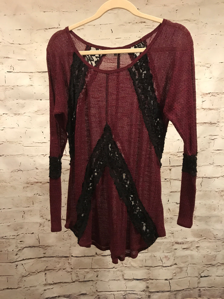 BURGUNDY/BLACK TUNIC