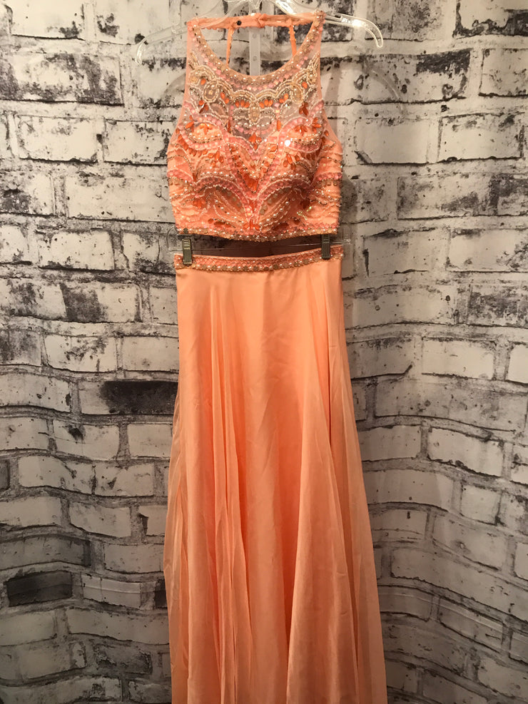 PEACH 2 PC. LONG DRESS SET