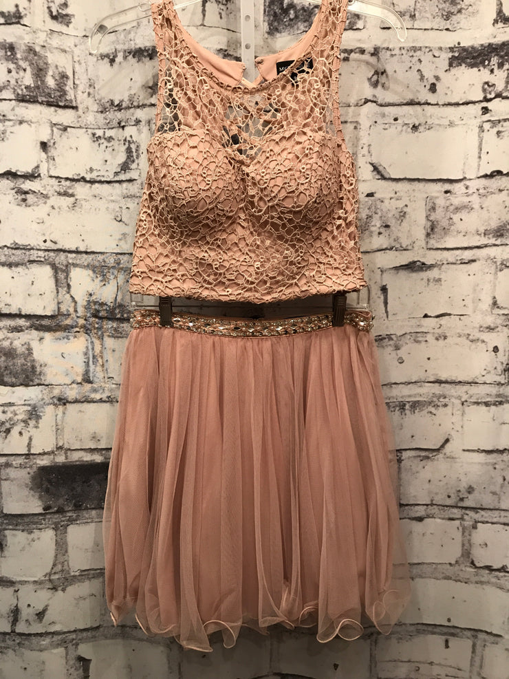 BLUSH LACE 2 PC. SHORT DRESS