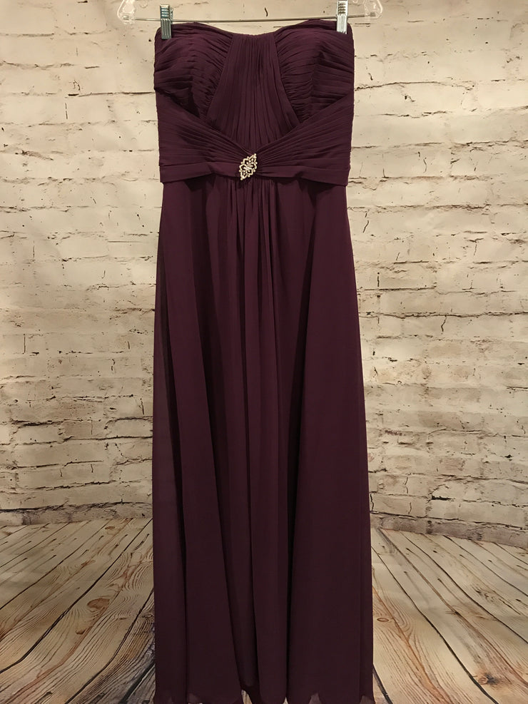 PURPLE LONG EVENING GOWN