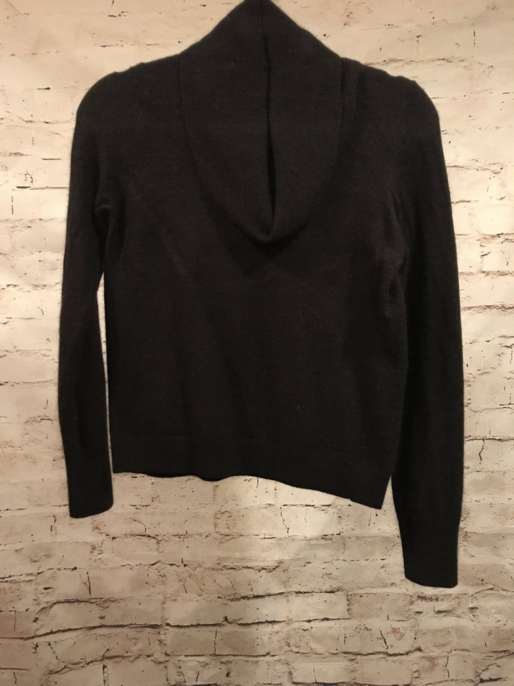 BLACK ANGORA/WOOL SWEATER