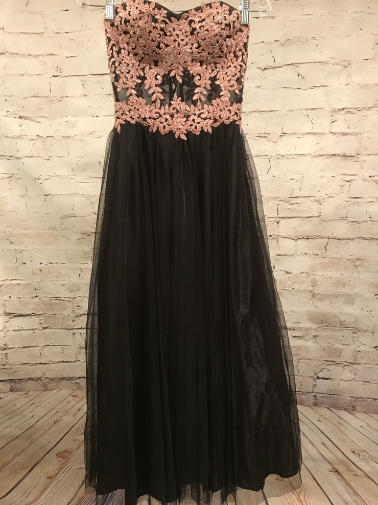 BLACK A LINE PRINCESS GOWN