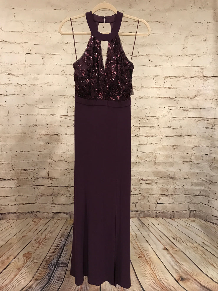 PURPLE LONG EVENING GOWN (NEW)