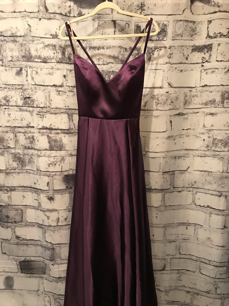 PURPLE TAFETTA GOWN W/ POCKETS (NEW)