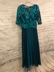 MOB - TEAL TOP LONG DRESS $398