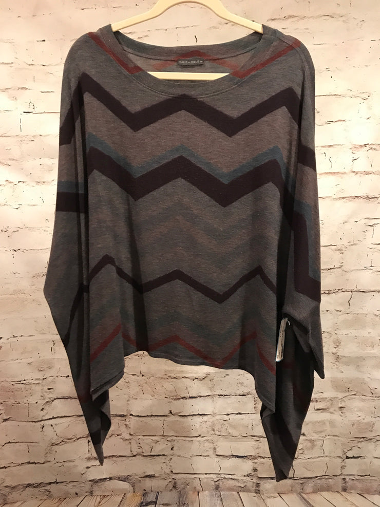 MULT COLOR ZIG ZAG SWEATER