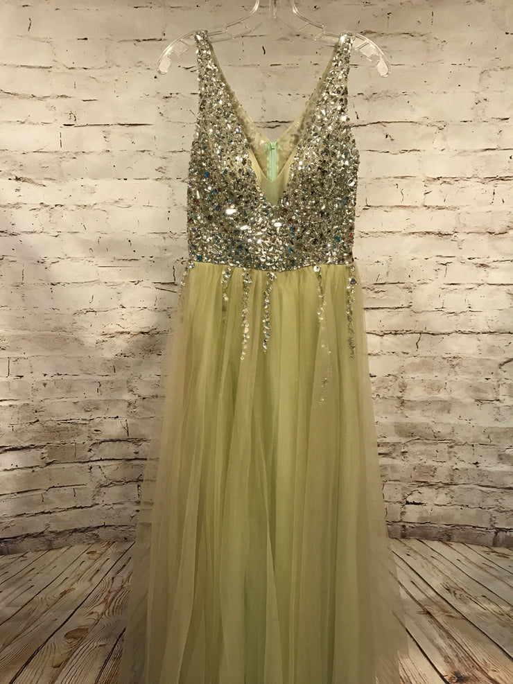 OLIVE GREEN PRINCESS GOWN