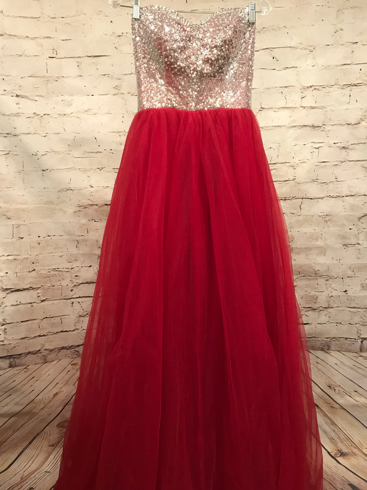 RED/SILVER PRINCESS GOWN (NEW)