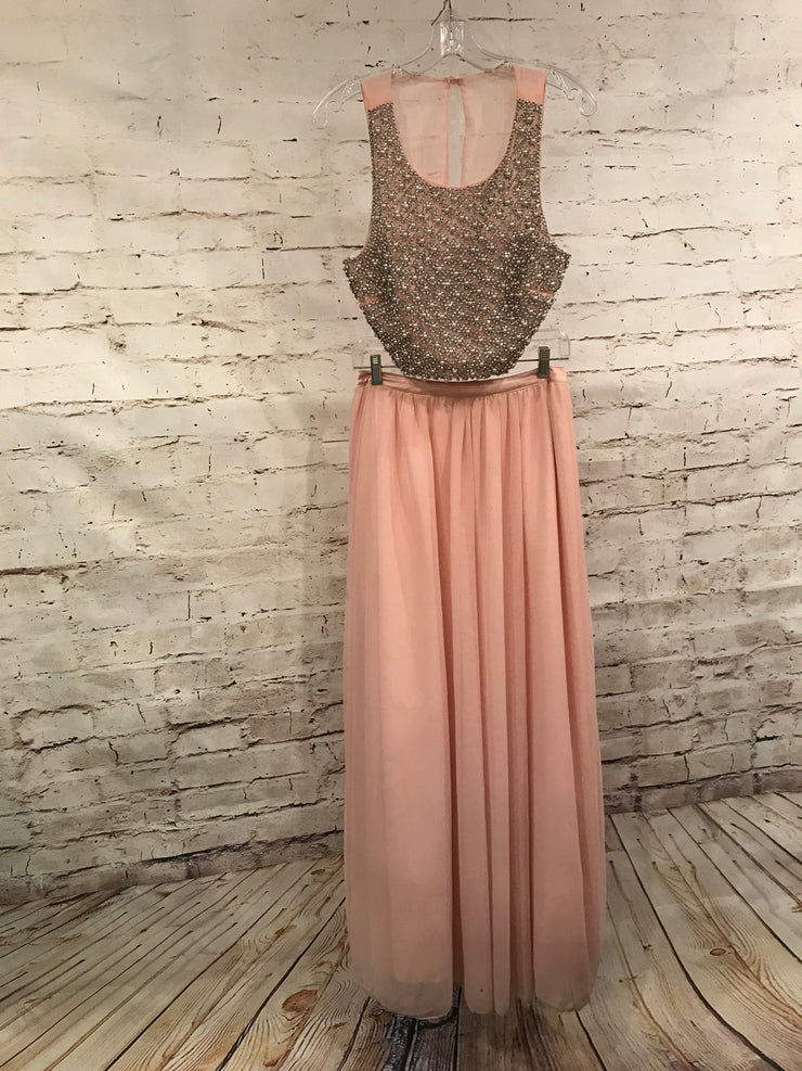 * * LT. PINK 2 PC. LONG DRESS