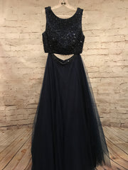 NAVY 2 PC PRINCESS GOWN