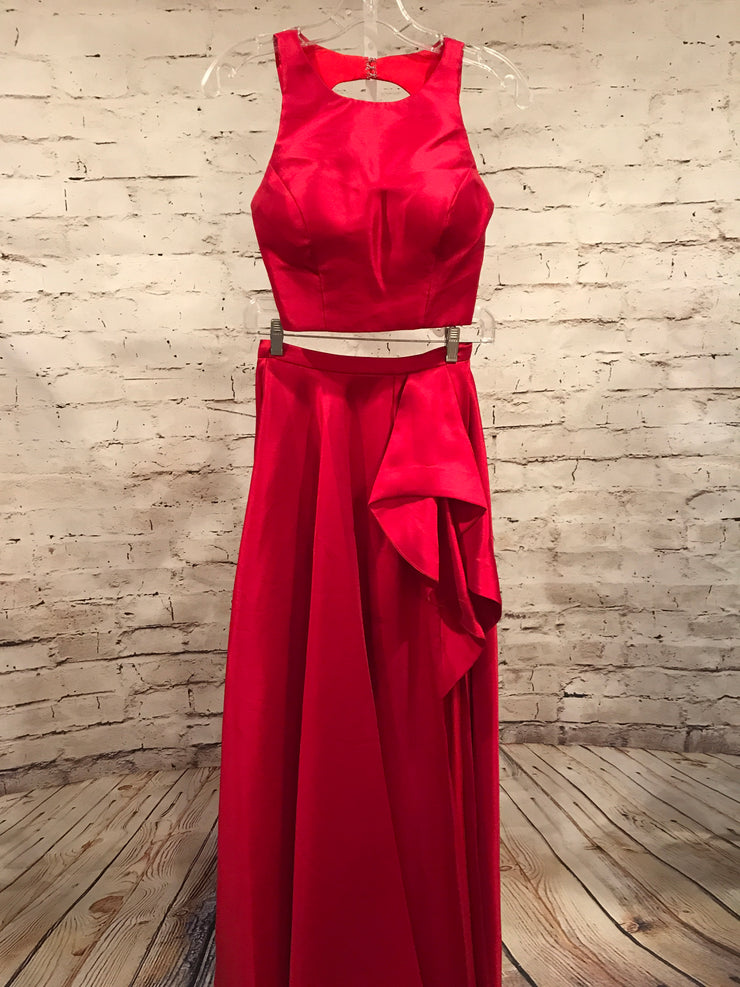 RED 2 PC. PRINCESS GOWN SET