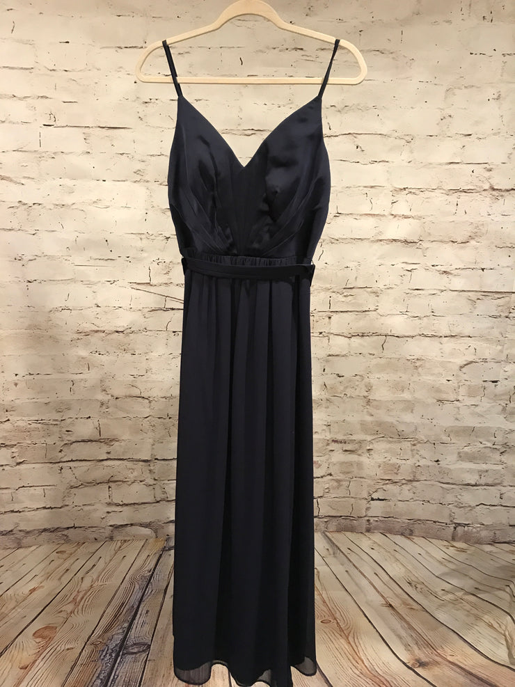 NAVY LONG EVENING GOWN