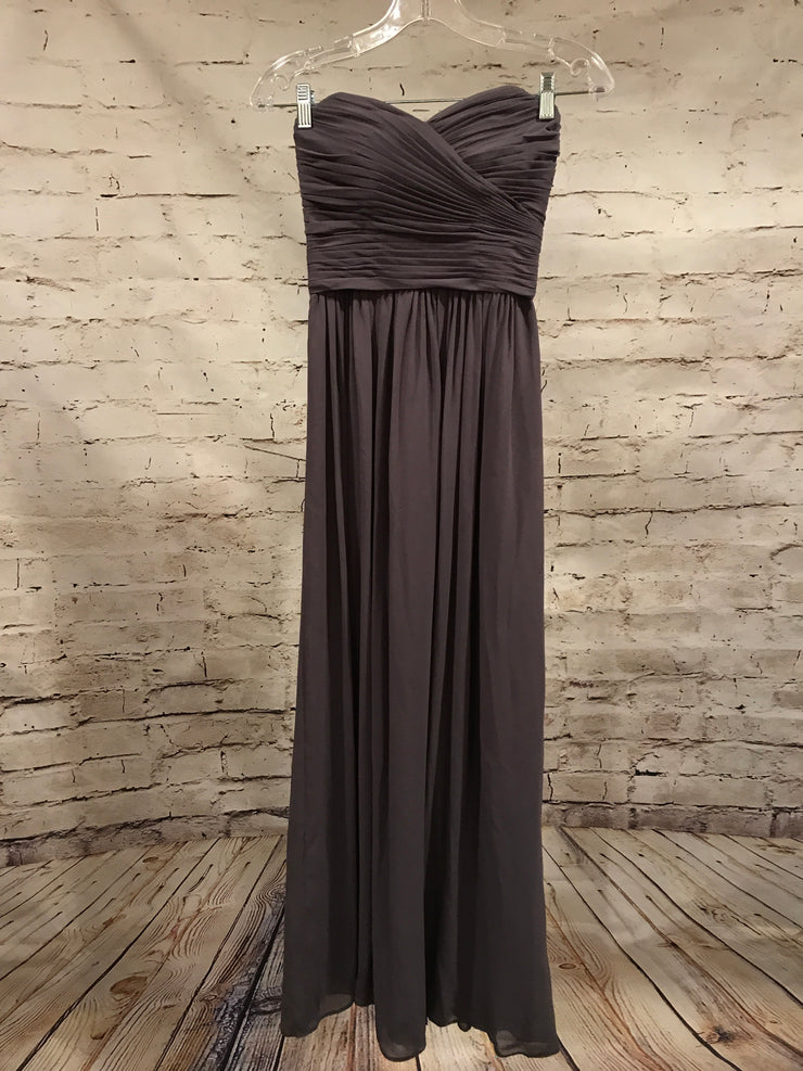 GRAY LONG EVENING GOWN