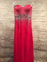 PINK SEQUIN LONG GOWN