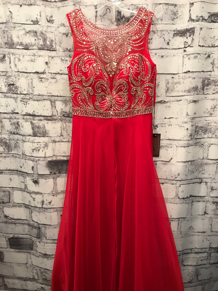 RED LONG EVENING GOWN (NEW)