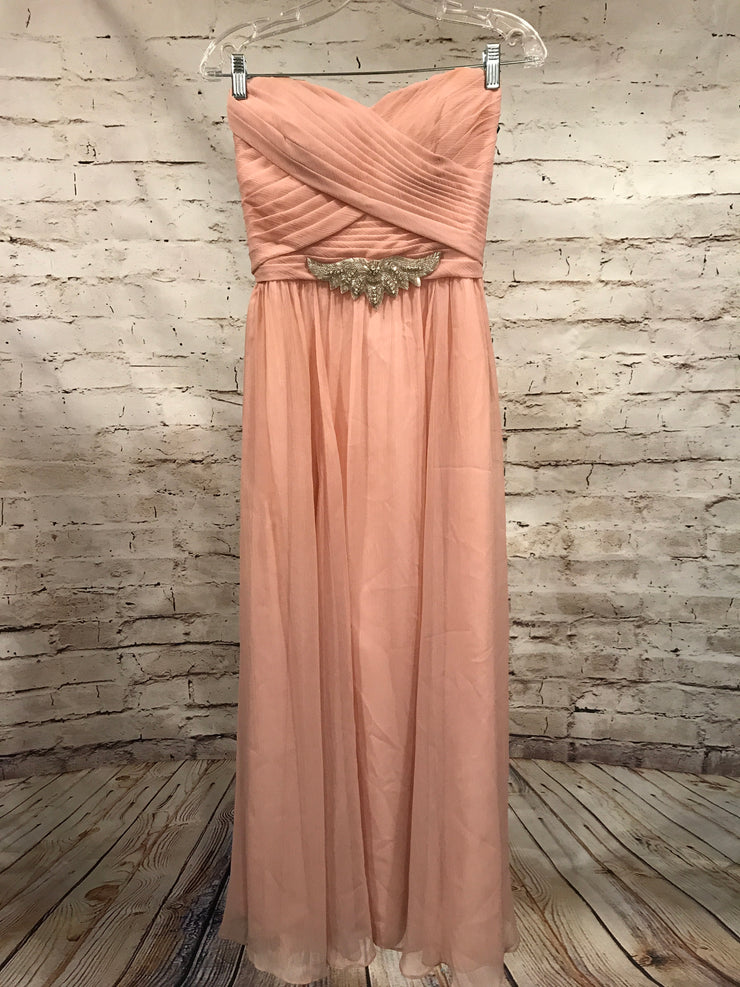 LIGHT PINK LONG EVENING GOWN