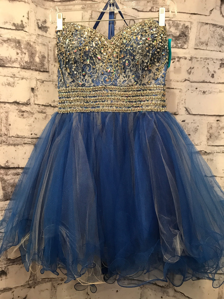 BLUE SHORT POOFY DRESS