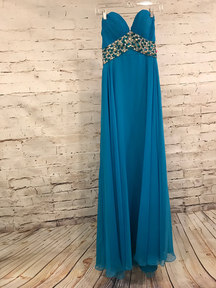 NEW - BLUE LONG EVENING GOWN