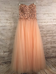 PEACH A LINE PRINCESS GOWN