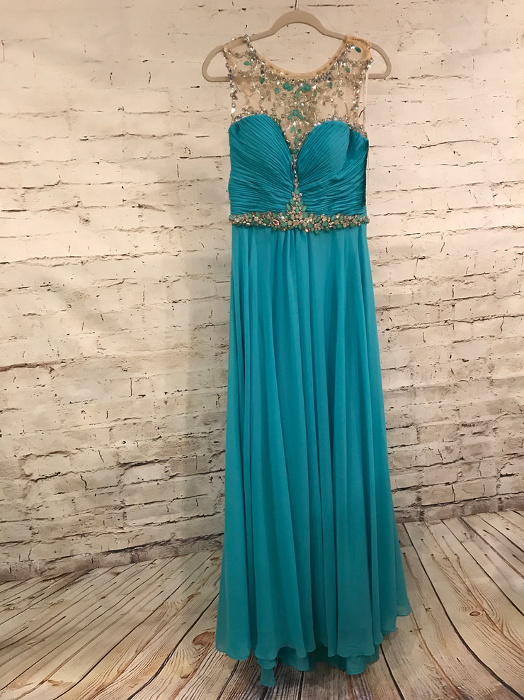 TURQUOISE LONG GOWN (NEW)