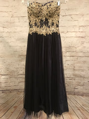 NAVY A LINE PRINCESS GOWN