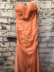 NEW CORAL LONG EVENING GOWN