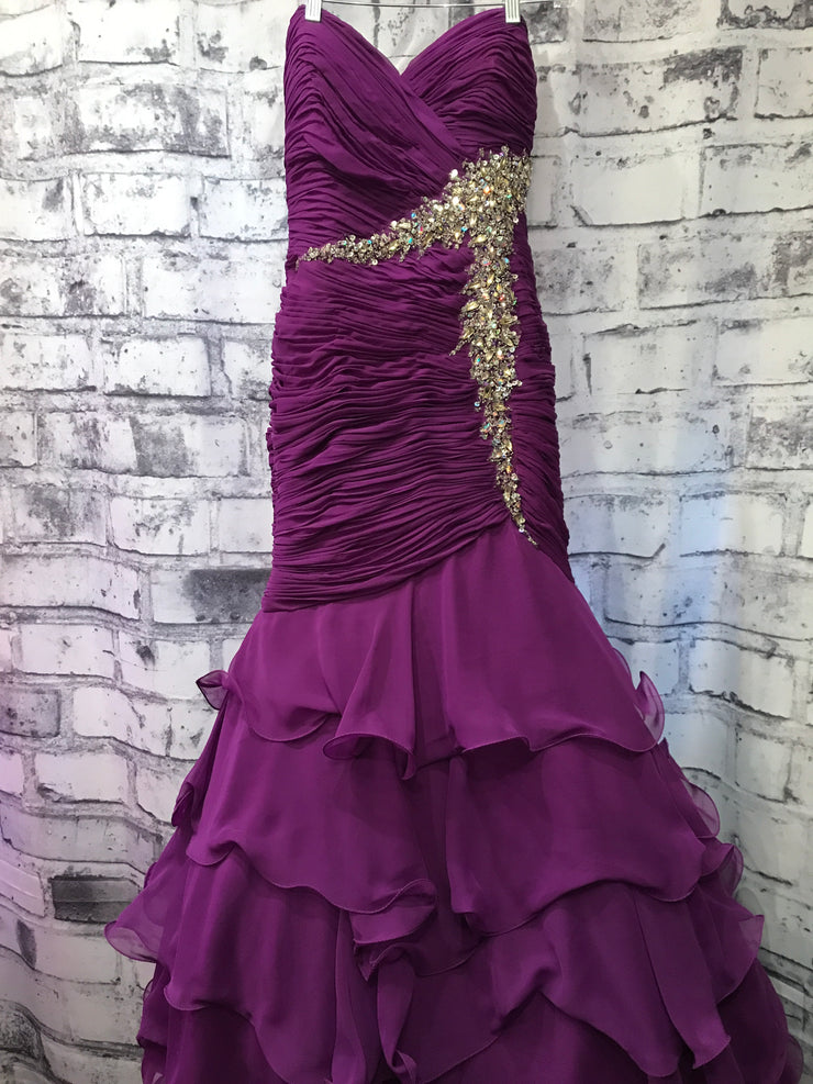 PURPLE MERMAID GOWN