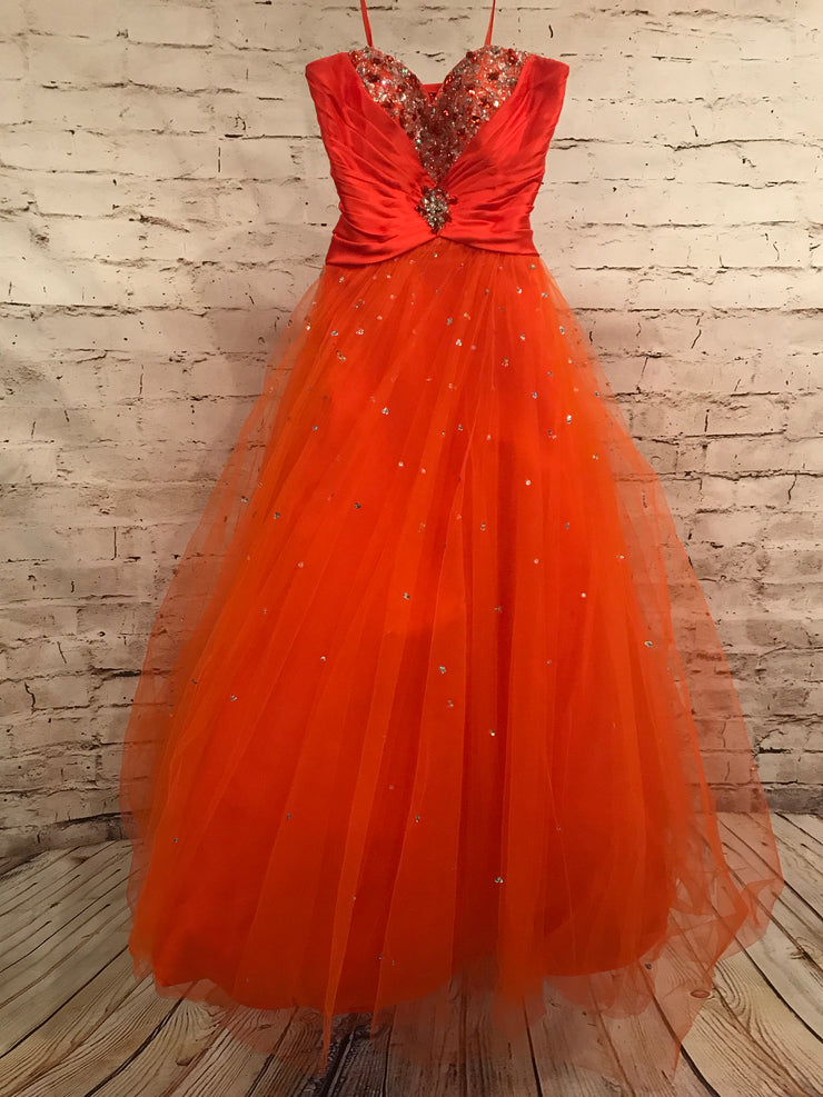 ORANGE PRINCESS GOWN